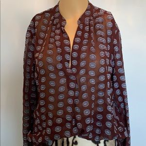 NWOT 100% silk Loft blouse